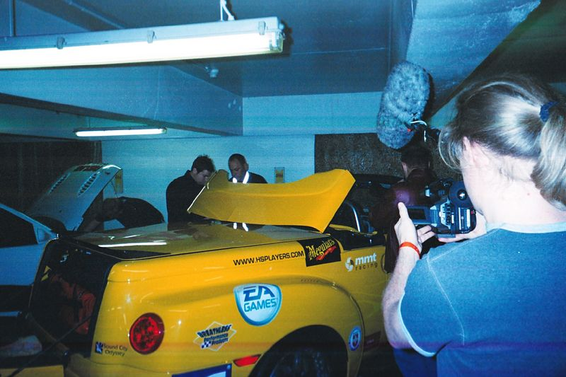 Our friend Mike's yellow SSR always drew quite a crowd. It had over 650 horsepower. The retractable top was very cool, too.