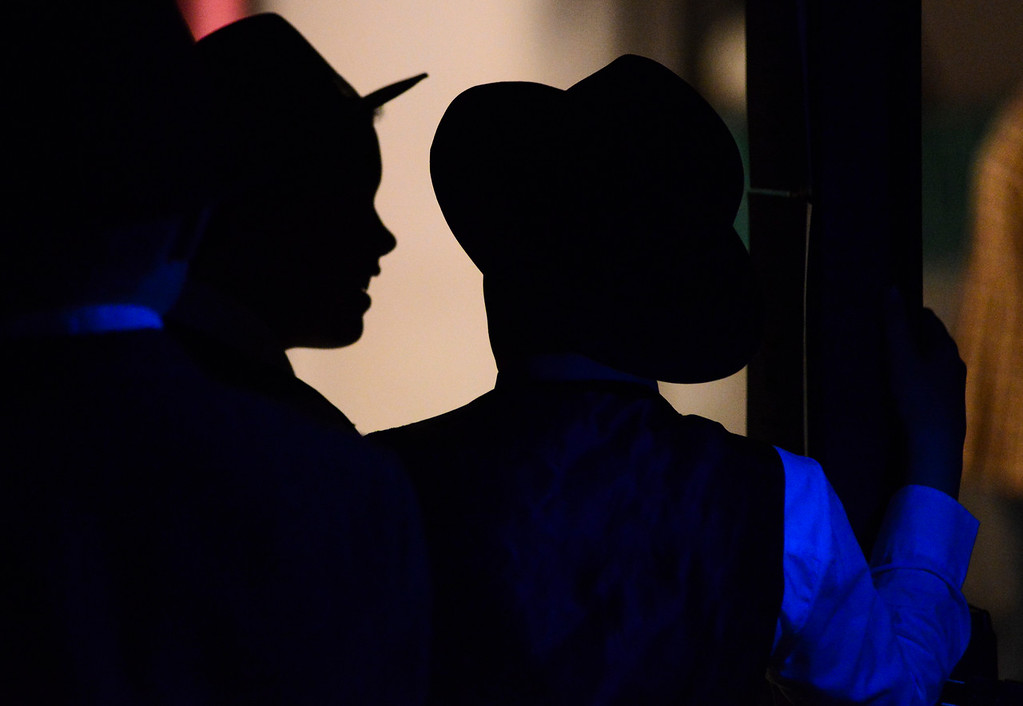 "Justin Sheely | The Sheridan Press<br /> Cast members wait for their prompt in the wings of the stage during a dress rehearsal for ""Guys and Dolls Jr."" at the Wyoming Performing Arts and Education Center Tuesday, June 12, 2018. The Tandem Productions presentation is comprised of young thespians, ages 8-15. The play shows Wednesday through Saturday, June 13 - 16, at 7:30 p.m. Tickets are available at the WYO box office or online at wyotheater.com."