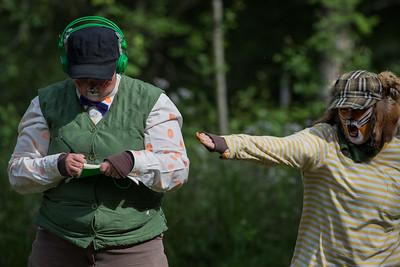 KLATREMUS OG ALLE DE ANDRE DYRENE I HAKKEBAKKESKOGEN Norsk Sceneskrekk  - Bassengparken Gjøvik 22/06/2016  --- Foto: Jonny Isaksen