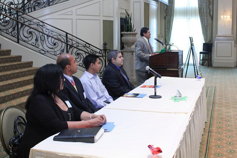 2012 HCAC Brilliance Awards: Gems of Success Panelists and Moderator, Rudy Lopez.