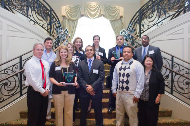 2012 HCAC Brilliance  Awards: Award Winners with Sponsors, Moen Inc., SAS Institute Inc., and Progress Energy