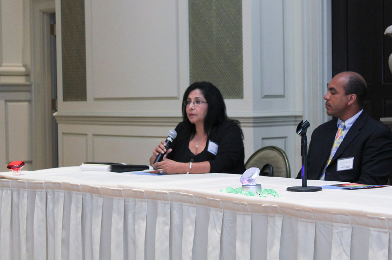 2012 HCAC Brilliance Awards: Panelists, Betsy Clark, DiamondWater Construction and Gustavo Ocoro, Ocoro Enterprises