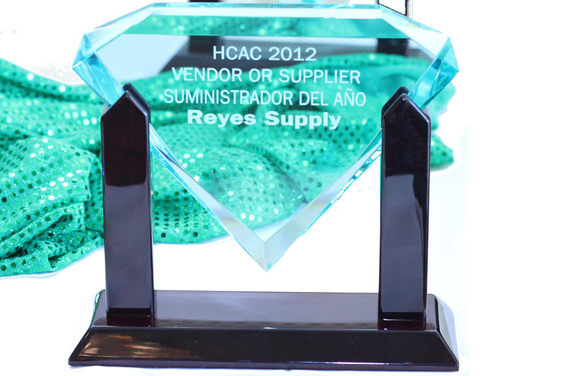 2012 HCAC Brilliance  Awards: Vendor/Supplier of the Year, Reyes Supply.