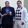 2012 HCAC Brilliance  Awards: Annette Stevenson, C.P.M., Supplier Diversity Manager, SAS Institute Inc. with Trade Contractor of the Year Award Winners, Carlos Renza, V.P., and Alonzo Pineda, Hitech Building Company.