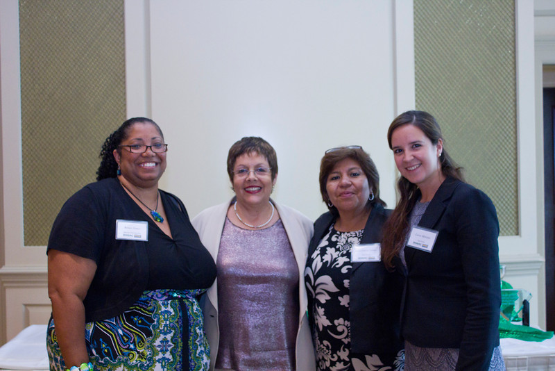 2012 HCAC Brilliance Awards: HCAC President, Renee Jones; ???; NHCA President, Maria Patricia Corrales, and NHCA Executive Administrator, Luisa Moreno