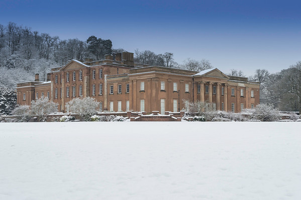 HIMLEY HALL IN THE SNOW