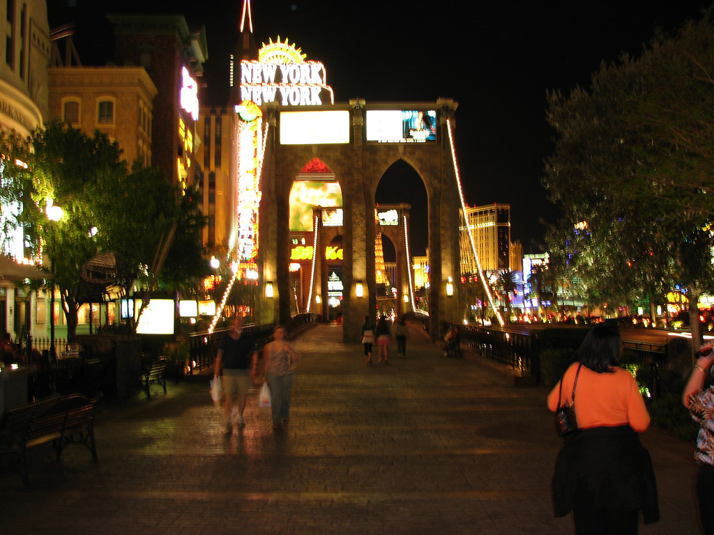 The Vegas version of the Brooklyn Bridge.