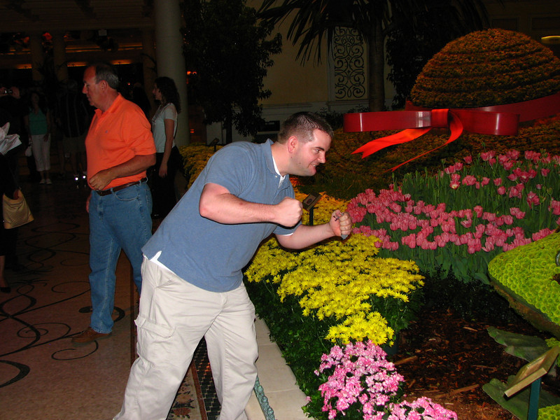Brett threatens to fight the giant flower frog.