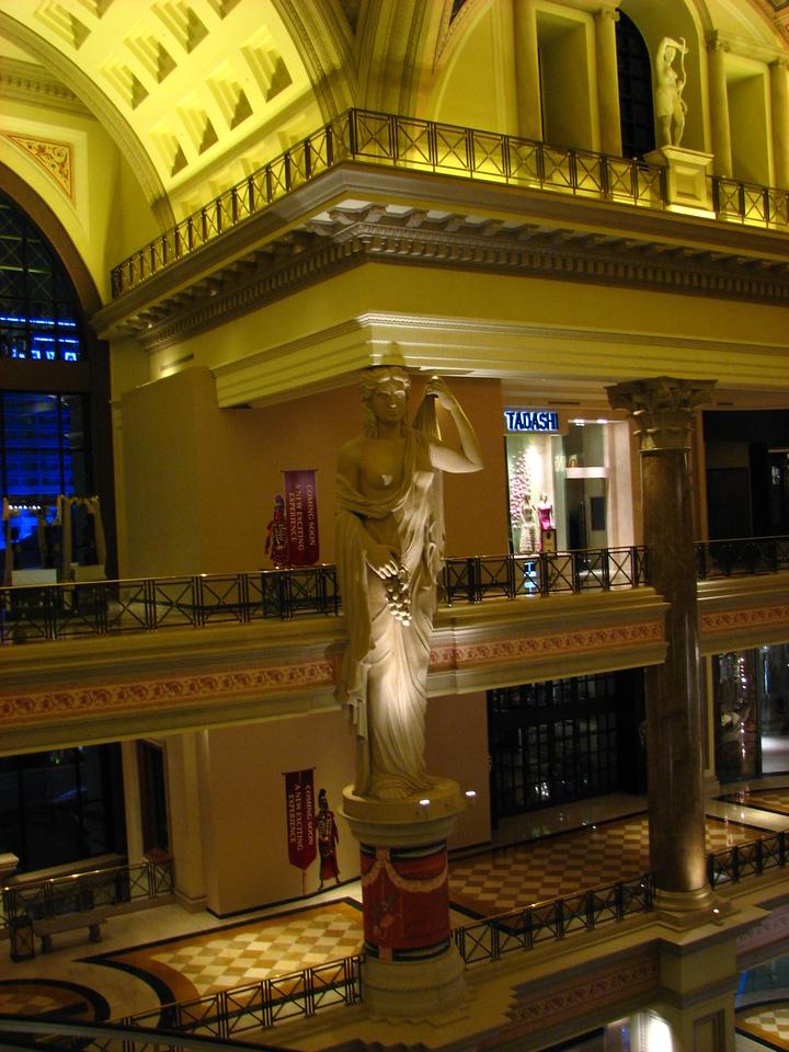 Inside Cesar's Palace.