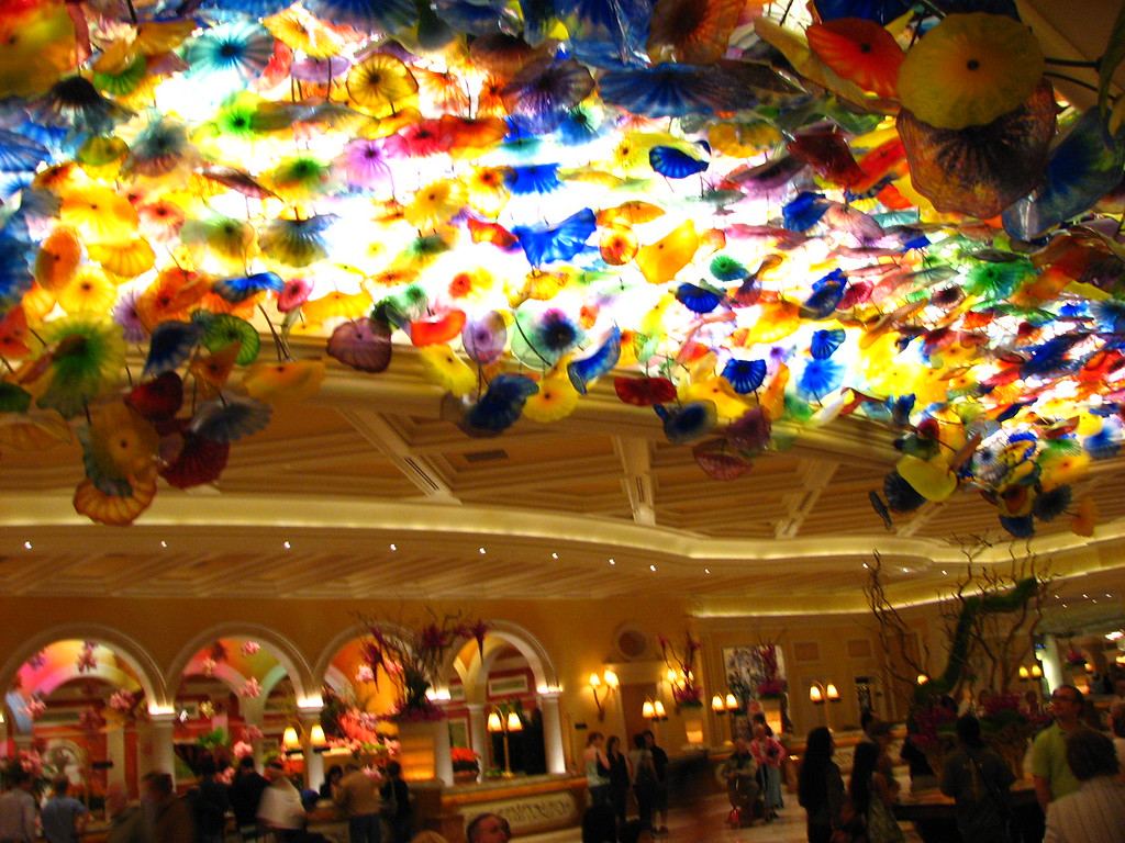 Ceiling above the Bellagio registration desk.
