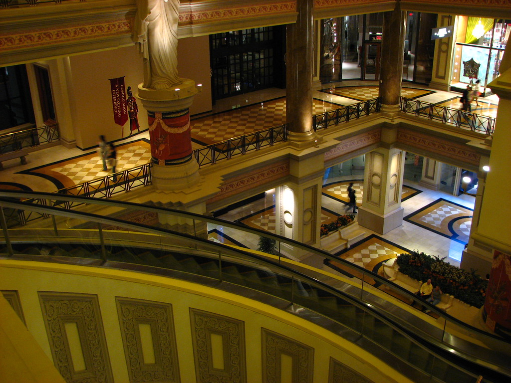 Inside Cesar's Palace. We just had to go ride the spiral escalators.