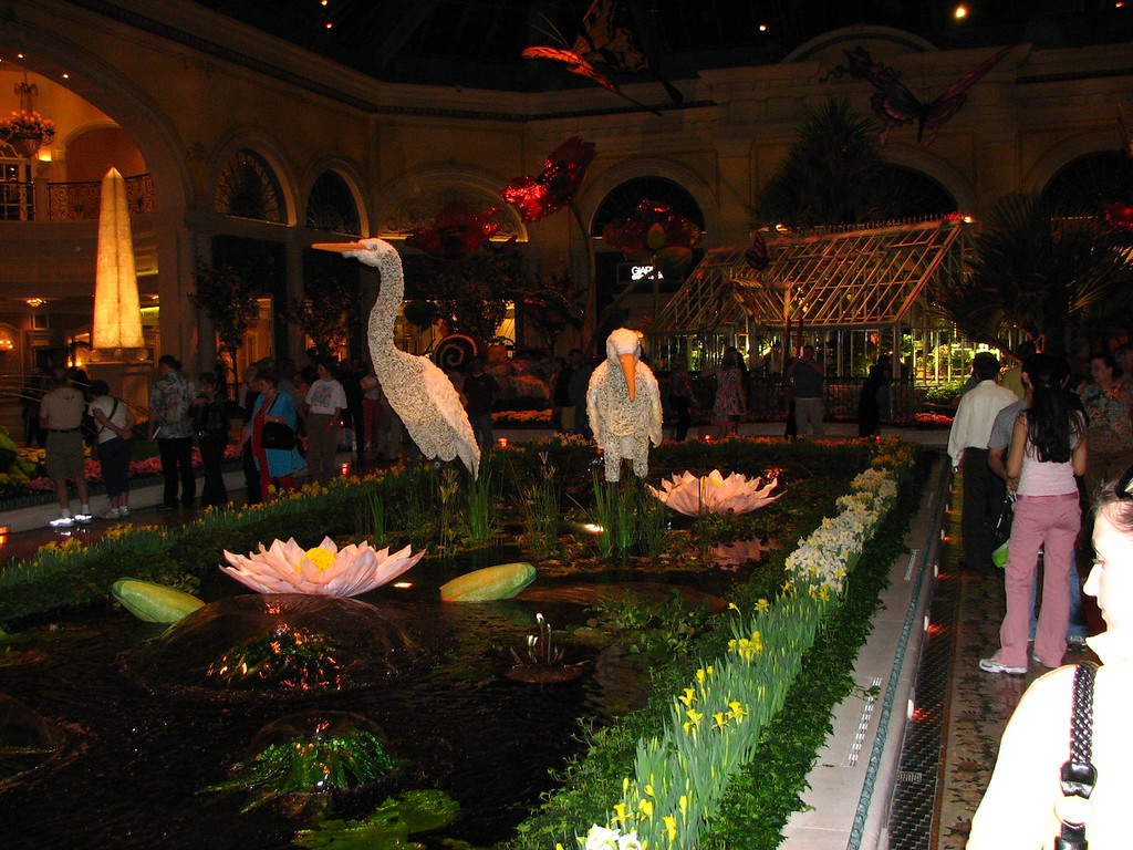 Bellagio's indoor flower garden.