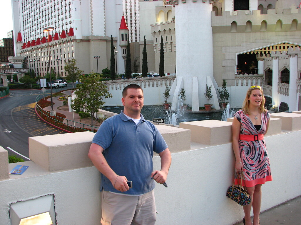 Brett and Ashlee at Excalibur.