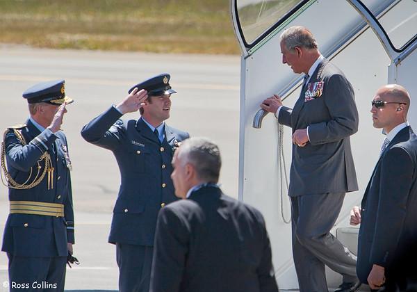 HRH Prince Charles Flies In 2012