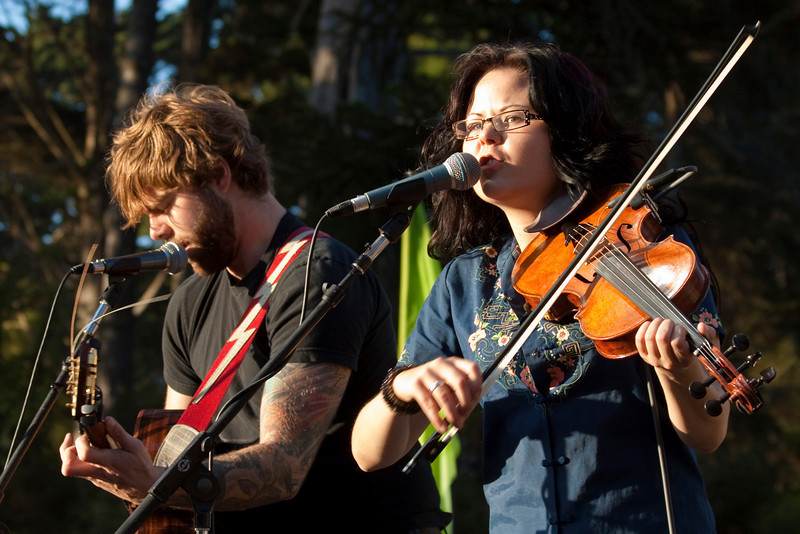 Jordon McConnell and Tania Elizabeth (The Duhks).  Hardly Strictly Bluegrass 2009