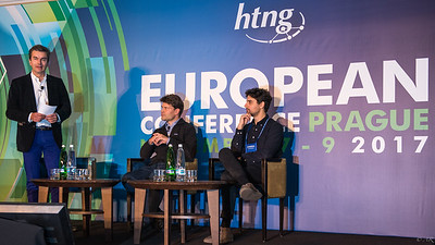 Innovation Through Accelerators moderated by Yves Lacheret, (AccorHotels) with Jens Lapinski (TechStars) Davide Faraci (H-FARM) Ben Stephenson Marcelino Moreno
