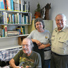 <b>Hal Wiedemann Research Library Dedication</b> Hal Wiedemann, Marta Isaacson, Lew Hecker <i>- Marta Isaacson</i>