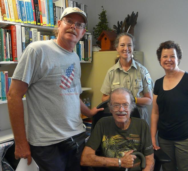 <b>Hal Wiedemann Research Library Dedication</b> Roger Wiedemann, Hal Wiedemann, Serena Rinker, Gail Wiedemann LaMotte <i>- Marta Isaacson</i>