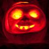 The pumpkin Steve carved