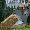 Donkey in front of the castle