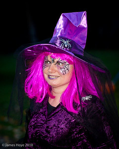 A rather colourful witch.