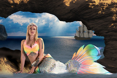 Mermaid under an arch
