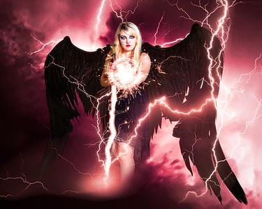 Dark Angel summons lightning