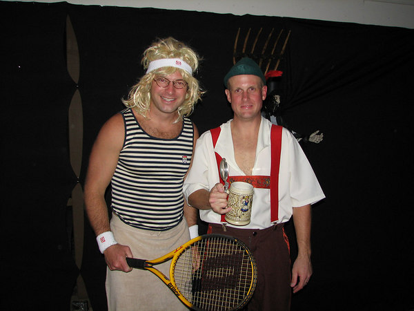 Martina Navratilova and some Bavarian guy