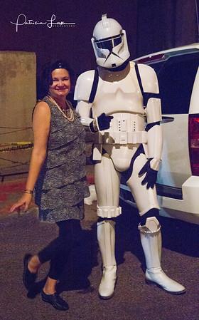 Teena Delaney with Storm Trooper