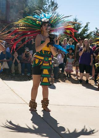 feather mex dancer fire pot smoke SHADOW blur face 1181V
