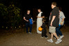 McKinney Boyd Latin Club members John S. and Reid F. hand out candy to trick-or-treaters