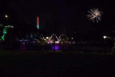 Fireworks at Halloween