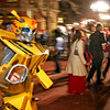 Steve Timm, dressed as a transformer walks down Pearl Street in Boulder on Halloween <br /> Photo by Will Morgan/ For The Camera