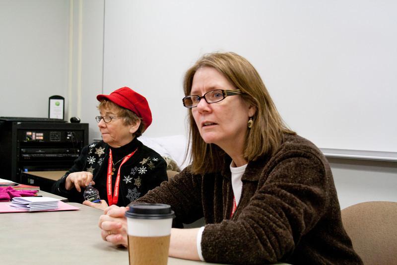 Marsh and Jackie in workshop.