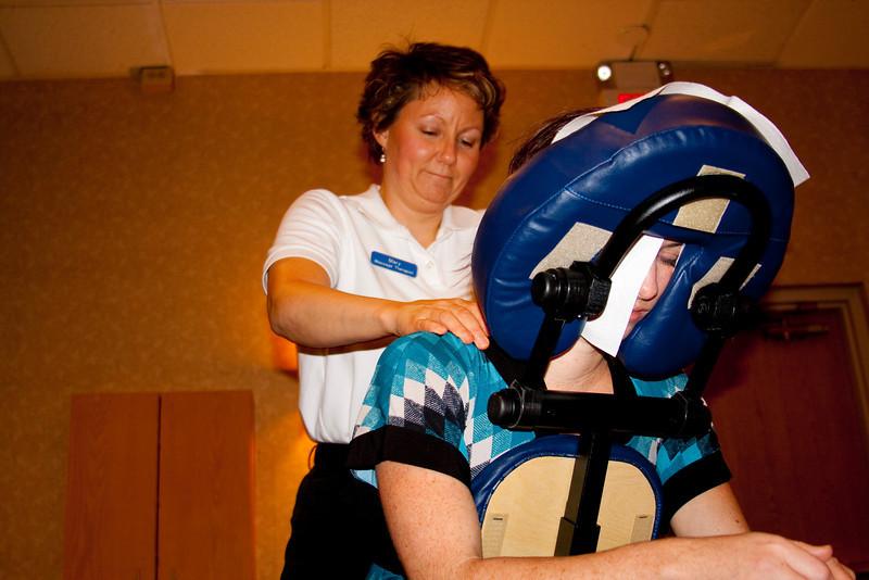 Chair massage!