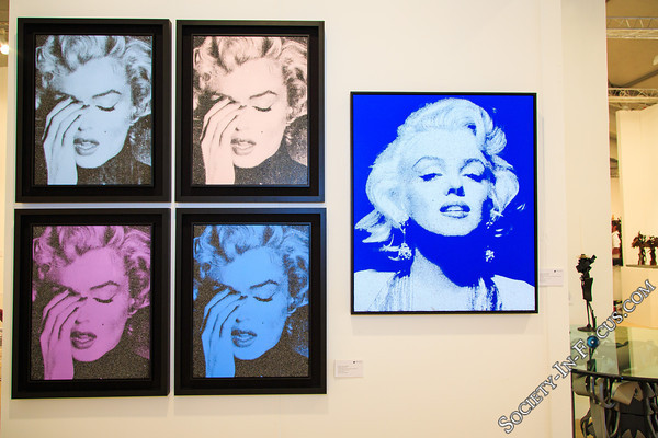 """Marilyn Crying"" and ""Marilyn Portrait"" by Russell Young"