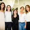Hilary Rhoda, Cate Belhumeur, Colette Belhumeur, Caroline Belhumeur (Creative Director of Club Monaco), Cristina Cuomo (Editor-in-Chief of BEACH Magazine)