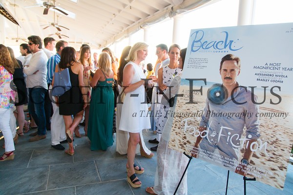 BEACH Magazine's Food & Fiction Cover Party with Alessandro Nivola at East Hampton Point in East Hampton, NY on August 14, 2015