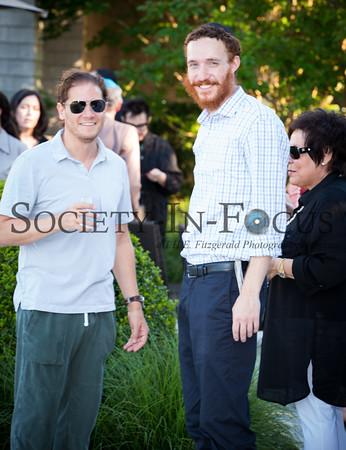 Yosef Baumgarten with guests