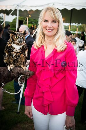 "Sara Herbert Galloway and ""Kalala"" aka ""Meep"" the Great Horned Owl"