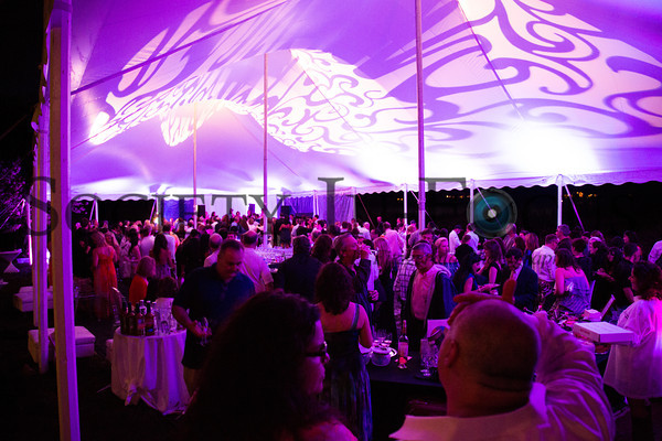 Under the tent