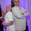 Chef Claudia Fleming and Chef Geoffrey Zakarian Striking That Iron Chef Pose!