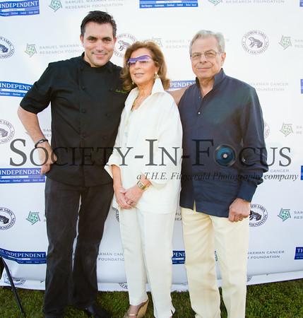 Chef Todd English, Marion Waxman, Dr. Samuel Waxman