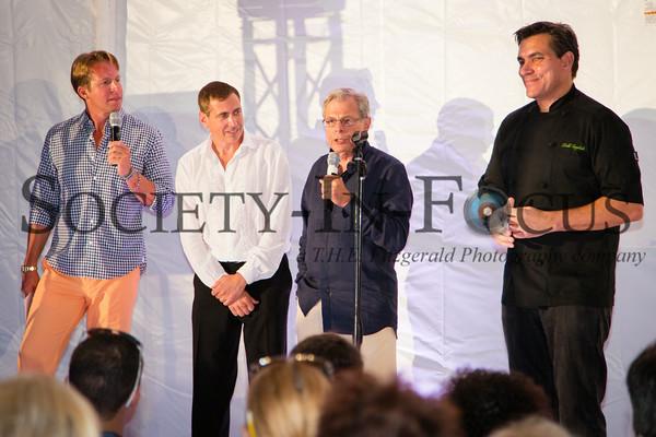 Chris Wragge, Ken Fishel, Dr. Samuel Waxman, Chef Todd English