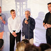 Chris Wragge, Ken Fishel, Dr. Samuel Waxman, Chef Todd English