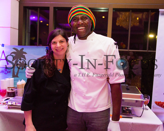 Chef Caitlin Palmer, Chef Osburn Palmer - Hamptons Raquet Club: Salt & Pepper Jamaican Catering