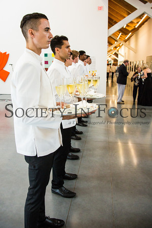 Waiters await guests