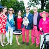 Meridith Halsey, Amy Halsey, June Halsey, Mark Halsey holding Henry, Doug Halsey, Marita Halsey Ritterhoff