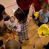 All the children received hard hats when the arrived.  The pinata contained plastic tools, Handy Manny figures and rings