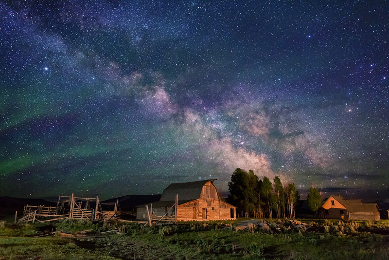 Stars over John Moulton homestead
